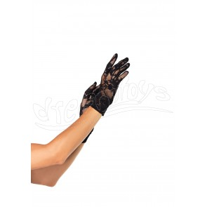 Stretch Lace Wrist Length Gloves OS