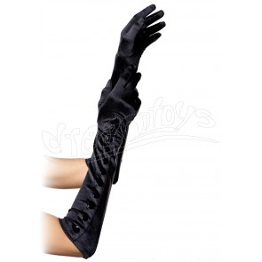Satin Gloves With Snap Button OS