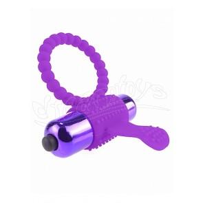 Vibrating Silicone Super Ring - Purple