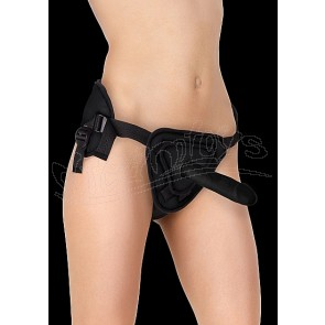 Deluxe Silicone Strap On - 8 Inch - Black